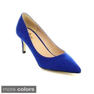 Mixx Shuz Merida-02 Women's Closed Pointed Toe Fashion Mid Heels