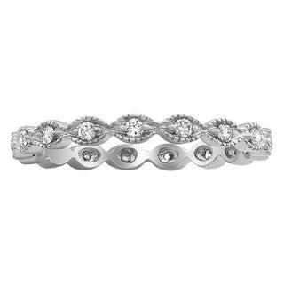 Beverly Hills Charm 10k Gold 1/4ct TDW Diamond Eternity Wedding Band (H-I, I2-I3)