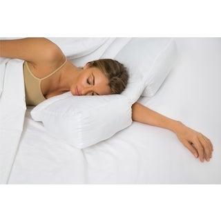 Better Sleep Stomach and Side Sleeper Gel Fiber White Pillow