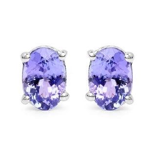 Malaika Malaika Sterling Silver 1 1/2ct Tanzanite Earrings