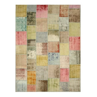 EORC X35332 Multi Hand-knotted Wool Turkish Patch Rug (9'2 x 12'3)