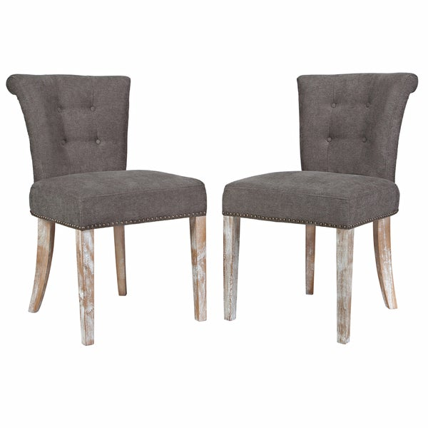 Angelo home lexi parisian smoke grey dining chair set of 2 Angelo home patio furniture