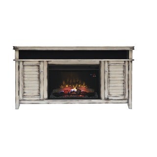 Simmons 26-inch Classic Flame Electric Indoor Fireplace Media Mantel in a White Finish