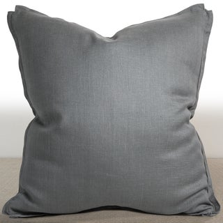 Dorian Mist Grey Linen 26-inch Down and Feather Filled Luxury Pillow
