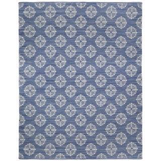 Blue Medallion Cotton Jacquard (9'x12') Rug
