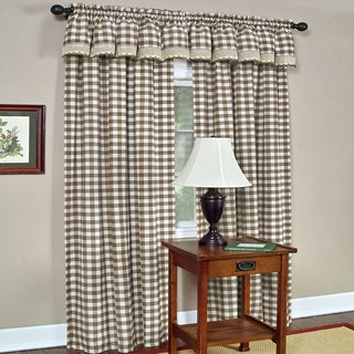 Classic Buffalo Check Window Panel and Valance