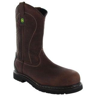 "John Deere Mens JD4913 11"" Pull-On Steel Toe Boots"