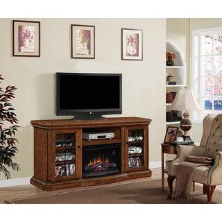 Beauregard 25-inch Classic Flame Indoor Electric Fireplace Media Mantel in Antique Caramel