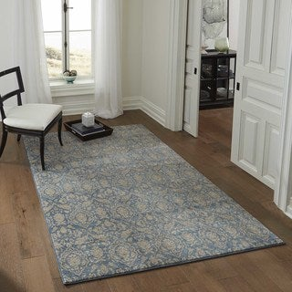 "Brighton Delicate Floral Machine-Made Rug (9'3""x12'6"")"