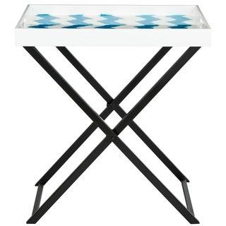 Safavieh Abba Blue/ White Tray Table