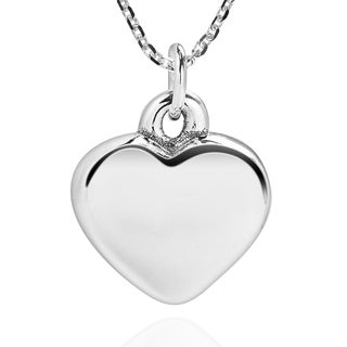 Charming 3D Love Heart Shape .925 Sterling Silver Necklace (Thailand)