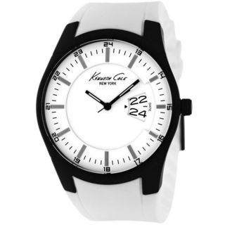 Kenneth Cole Men's KC1992 'Sport Slim' White Silicone Watch