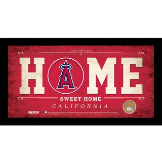 Los Angeles Angels 10x20 Home Sweet Home Sign with Game-Used Dirt from Angel Stadium of Anaheim
