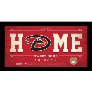 Arizona Diamondbacks 6x12 Home Sweet Home Sign with Game-Used Dirt from Chase Field