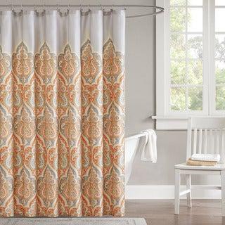 Madison Park Leah Cotton Shower Curtain - 3 Color Options