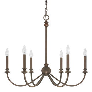 Capital Lighting Alexander Collection 6-light Burnished Bronze Chandelier