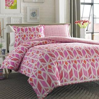City Scene Grayson Pink 3-piece Comforter Set