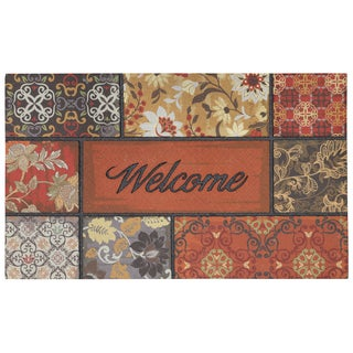 """Mohawk Home Floral in the Fall Welcome Doormat (18""""x30"""")"""