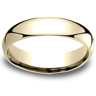 18k Yellow Gold Men's 5mm Comfort-Fit Wedding Band