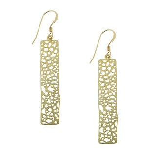 Handmade Gold Plated Rectangle Bar Drop on Gold-filled Earwire Earrings (USA)
