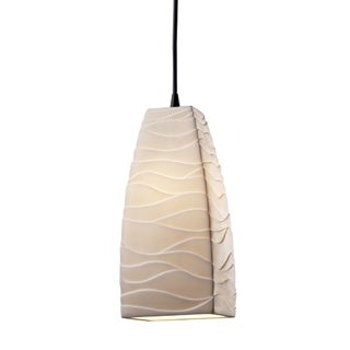 Justice Design Group Limoges 1-light Small Pendant, Waves