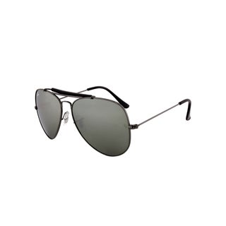 Ray-Ban Aviator Sunglasses RB 3029 L2114, Gunmetal Frame, Green Mirror Lens