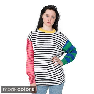 American Apparel Women's Recycled Cotton Mixed Stripe Pullover