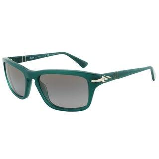 Persol PO3074-S 1001/M3 Film Noir Edition Sunglasses, Dark Green Frame, Grey Polarized Lens