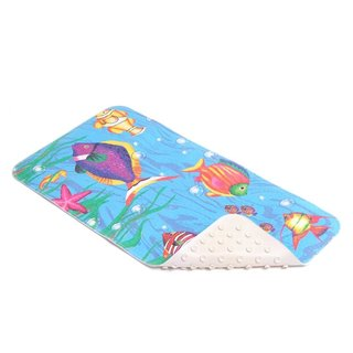 Con-Tact Brand Sea Fishes Rubber Bath Mat (Pack of 4)