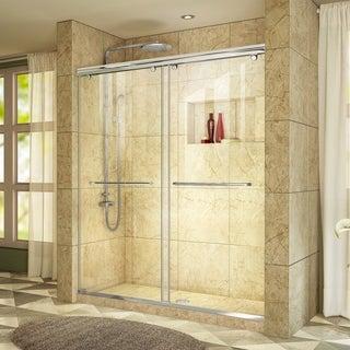 DreamLine Charisma Sliding Shower Door 76 in. H x 56 - 60 in. W Clear Glass Shower Door
