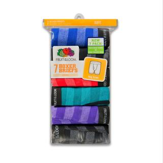 Fruit of The Loom Boy's 7 Tag Free Boxer Briefs Assorted Colors