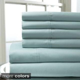 500 TC Cambria Cotton Rich 6-piece Solid Sheet Set
