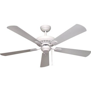 Ellington Uptown 52-inch Ceiling Fan in Matte White Finish, with Matte White Blades