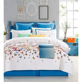 EverRouge Butterfly 7 Piece Cotton Duvet Set