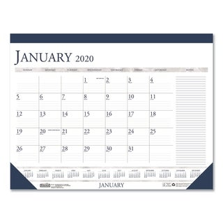 House of Doolittle 2016 Two-Color Monthly Desk Pad Calendar w/Large Notes Section