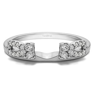 10 Gold 1/5ct TDW Diamond Delicate Bow Style Ring Wrap (G-H, I2-I3)