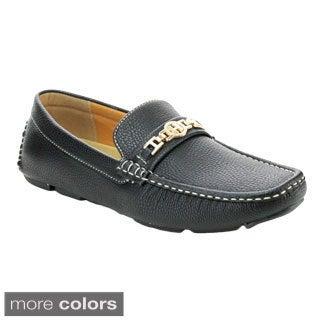 J's Awake Boston-22 Men's Comfort Driving Moccasin Style Slip On Loafers