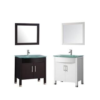 Figi 32-inch Single Sink Bathroom Vanity Set with Mirror and Faucet