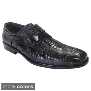 Parrazo Men's Round-Toe Lace-up Dress Oxford Shoes