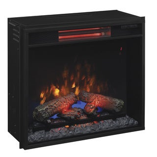 23-inch Infrared Quartz Electric Fireplace Insert with Safer Plug