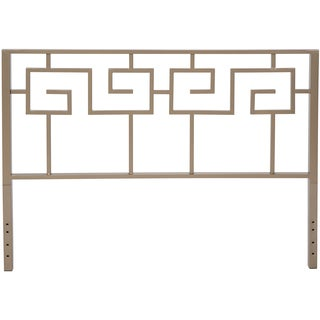 Motif Design Greek Key Metal Headboard (Gray)