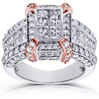 Annello 14k Gold 3ct TDW Diamond Composite Ring (H-I, I1-I2)