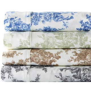 Wingate Collection 400 Thread Count Cotton Rich Printed Sheet Set