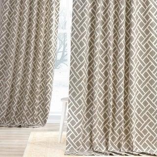 Martinique Printed Cotton Curtain Panel