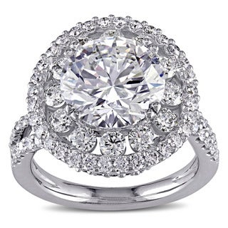 Miadora Signature Collection 18k White Gold 5 1/3ct TDW Diamond Engagement Ring (G-H, SI1-SI2), (GIA)