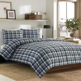Eddie Bauer Bridgeport Plaid 3-piece Alt Down Comforter Set