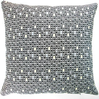 Artisan Pillows Indoor 20-inch Colorful Geometric Dots in Black Modern Accent Throw Pillow Cover