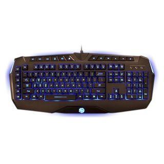 TTX Tech Black USB Professional Gaming LCD Backlit Keyboard