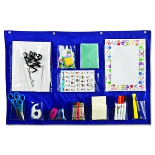 Carson-Dellosa Publishing Blue 18 x 33 Writing Center Pocket Chart