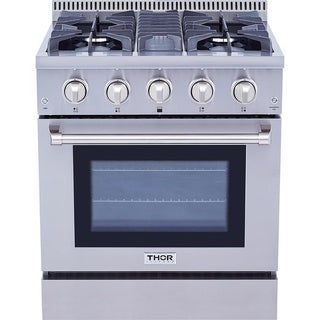 Thor Kitchen 30-inch Stainless Steel Professional Gas Range with 4 Burners